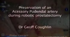 Accessory pudendal artery preservation by Dr Geoff Coughlin