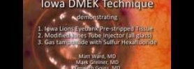 Iowa DMEK Technique Utilizing a Modified DMEK Jones Tube