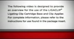 www.ees.com/Clinician/Product/ligation/multi-patientuse/nThis video illustrates the steps to use of our LIGACLIP® Ligating Clip Cartridge Base and Clip Applier - surgery videos