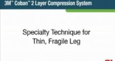 Thin Fragile Legs Application of 3M Coban 2 Layer Compression System