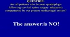A Medicolegal Review of Cases Involving with Quadriplegia Following Cervical Spine Surgery: An Argument for a No-Fault S