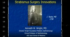Strabismus Surgery Innovations